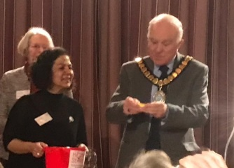 Raffle draw Cllr Peter Cresswell Chairman East Cambs District Council